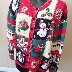Tiara International Christmas Sweater Cardigan